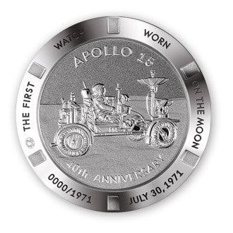 Apollo 15 Omega watch caseback