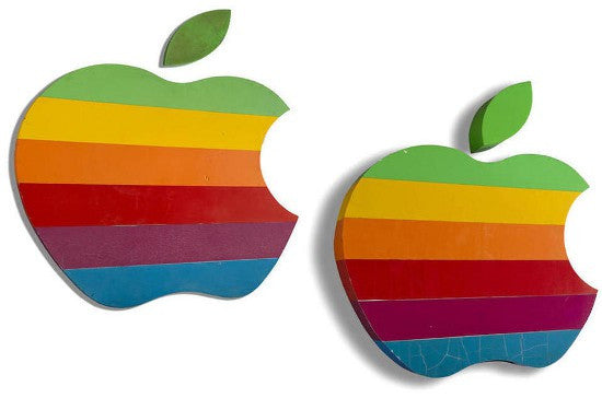 Apple Rainbow logo auction