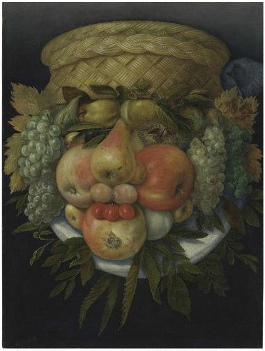 Arcimboldo reversible painting fruit