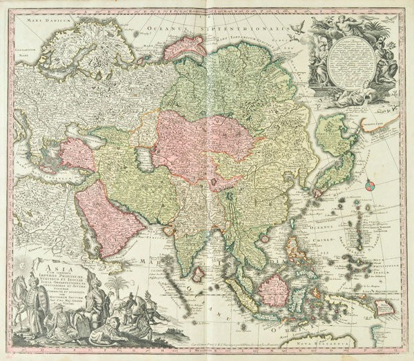 Map of Asia from Seuttus's Atlas