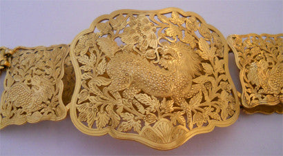 Asian gold dragon belt