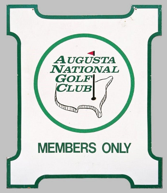Augusta National Golf Sign