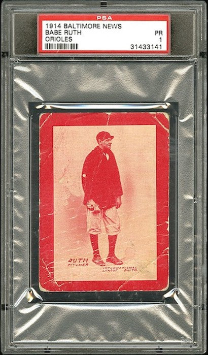 Babe Ruth 1914 rookie card