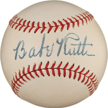 Finest babe ruth signed baseball PSA Gem Mint 9.5