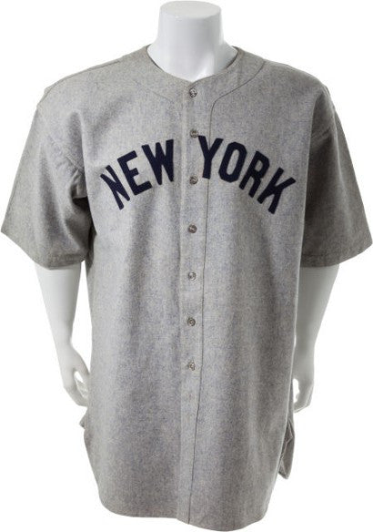 Babe Ruth's last Yankees jersey