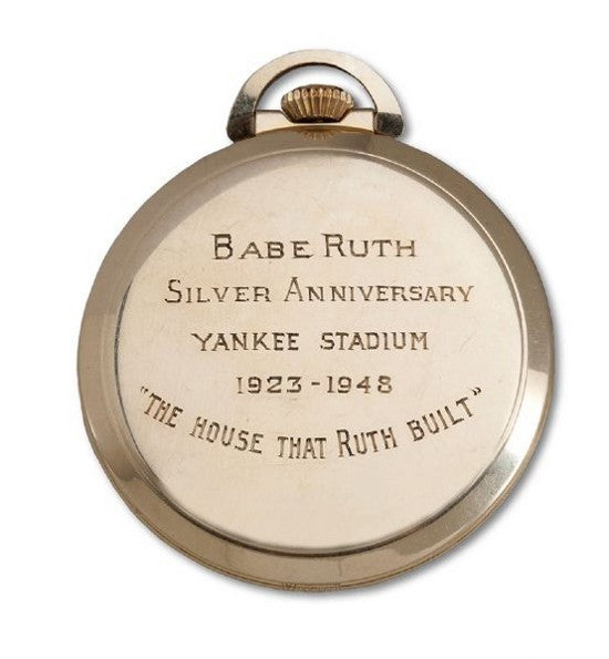 Babe ruth Yankee Stadium pocket watch