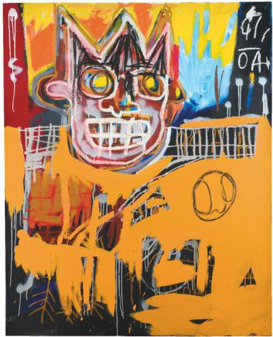 Basquiat Orange Sports Figure