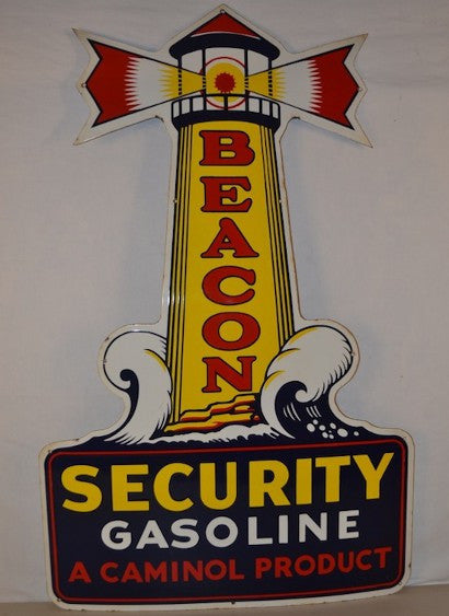 Beacon Security Gasoline sign