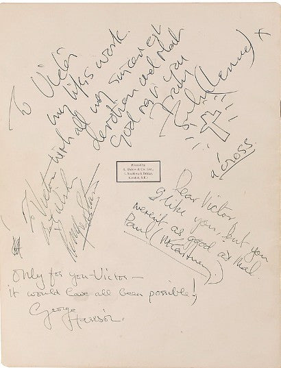 Beatles Help! signed program