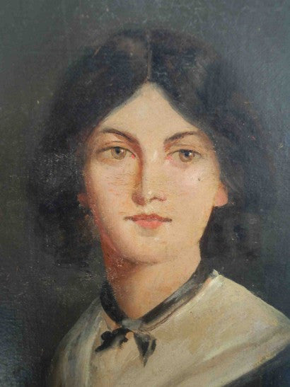 Beautiful Emily Bronte portrait painting