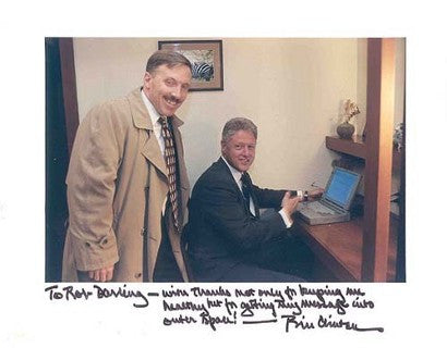 Bill Clinton laptop auction signed photograph