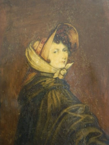 The somewhat severe 'Bonnet Portrait' of Emily Bronte