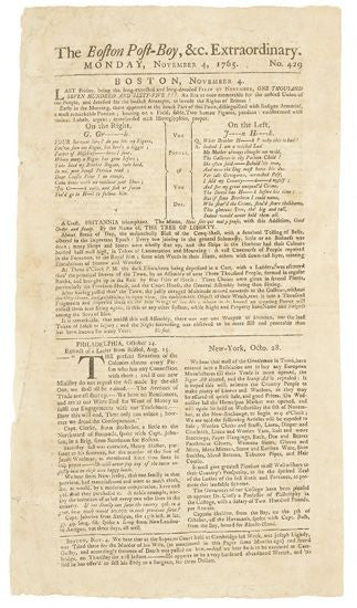 Boston Post Boy Stamp Act