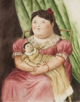 Fernando Botero Mother and Child