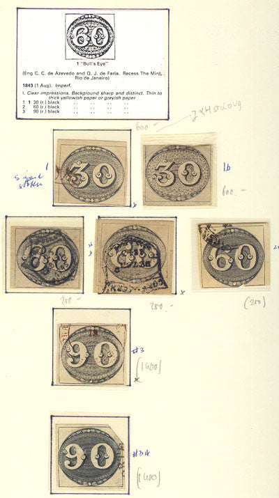 Brazilian Bullseyes early rare stamps