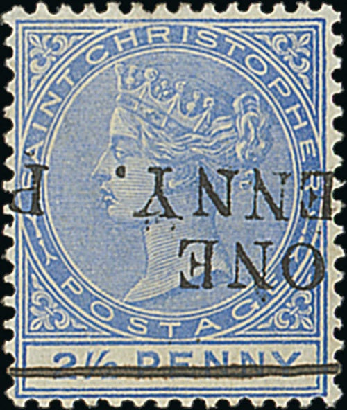 St Christopher postage stamp
