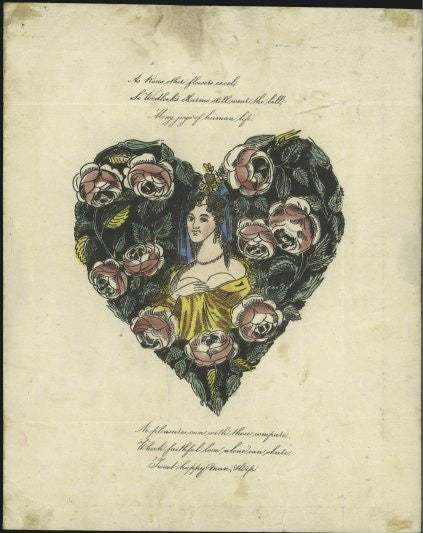 1841 Valentine Cover with Penny Black