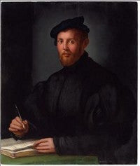 Agnolo Bronzino Portrait of a Young Man with a Book