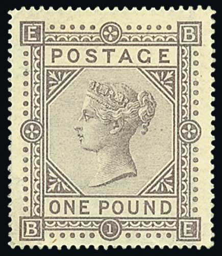 Brown lilac £1 stamp 1867