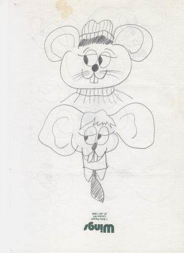 Bruce McMouse drawings by Paul McCartney