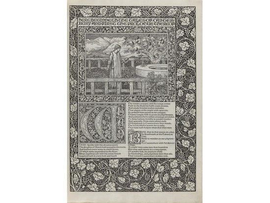 Burne-Jones Chaucer woodcuts