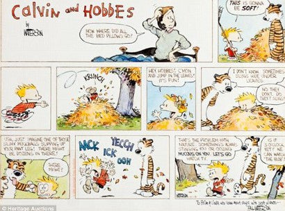 Calvin and Hobbes Auction Record breaking