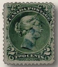 1868 two-cent Large Queen coming to stamp auction