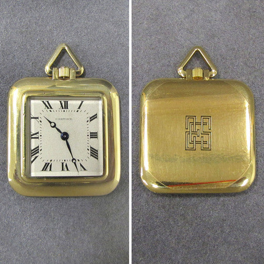 Cartier Gold Pocket Watch
