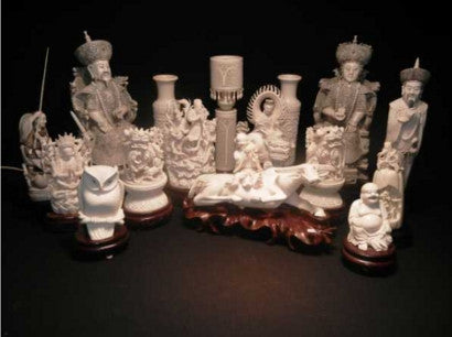 Carved Chinese jades root carvings