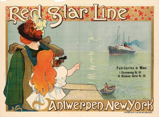 Cassiers Red Star Line poster