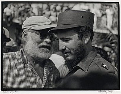 Fidel Castro with Ernest Hemingway