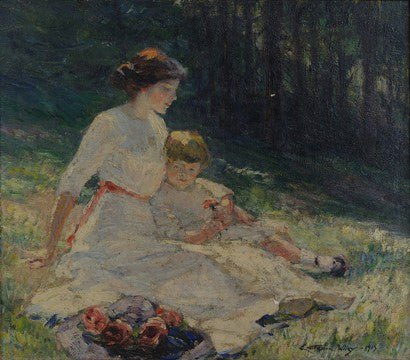 Catherine Wiley Impressionist mother and child painting