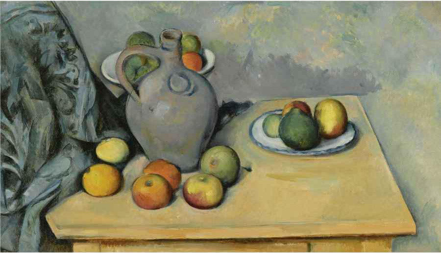 Paul Cézanne Still Life Pichet et Fruits sur use Table