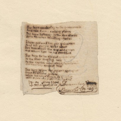 Charlotte Bronte poem manuscript auction