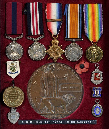 DCM and MM group of First World War medals
