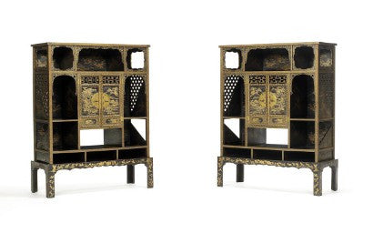 Chinese Imperial gilt-lacquer cabinets