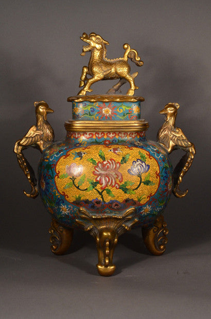 Chinese Ming Dynasty Imperial cloisonne censer