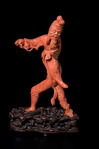 Chinese coral figure man