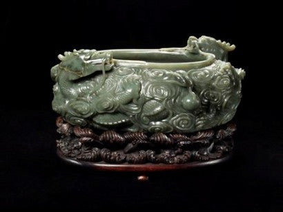Chinese jade water trough