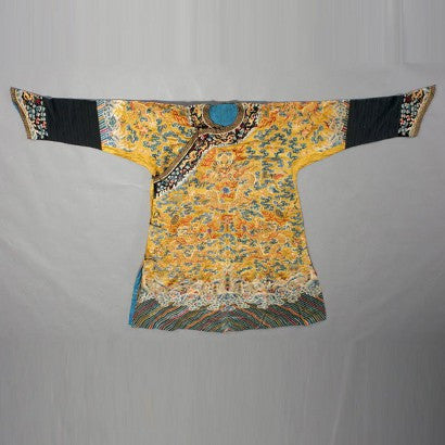 Chinese sillk dragon robe
