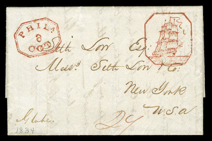 Chinese Ship Postmark stampless cover