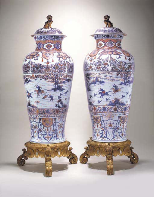A pair of Chinese Imari Soldier Vases Benjamin F Edwards sold in 2002