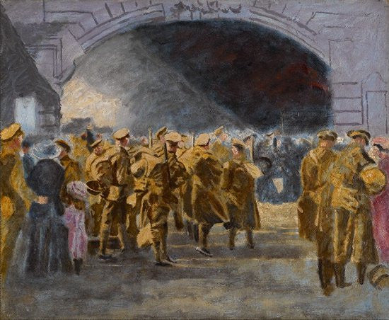 Churchill troops painting