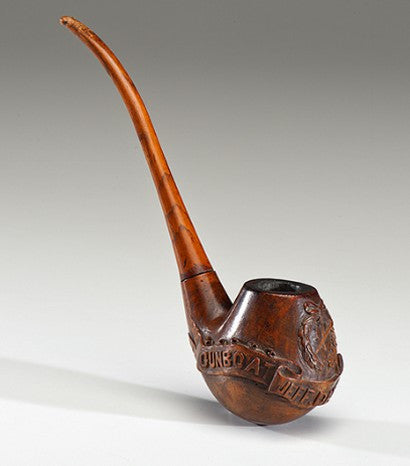 Civil war carved pipe