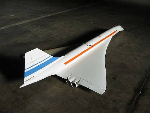 Concorde flight test model