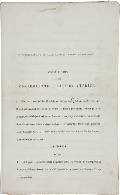 Confederate Constitution of America