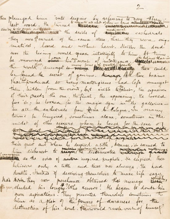 Joseph Conrad The Sisters manuscript