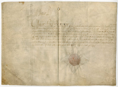 Oliver Cromwell autograph signature