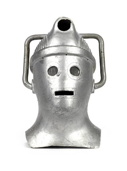 Cyberman helmet from the sci-fi TV series Doctor Who
