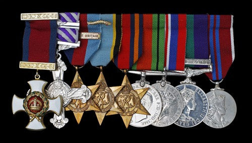 DSO and DFC group awarded to the Battle of Britain's Bob Doe
